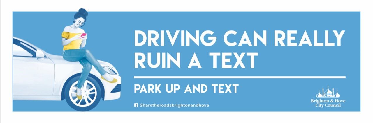 Driving can really ruin a text - park up and text