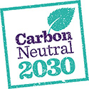 Carbon Neutral 2030 graphic
