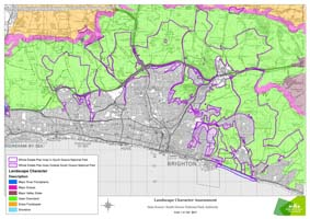 This shows how the South Downs National Park Authority classifies the land that forms the downland estate.