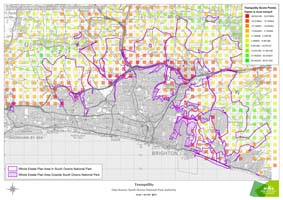 This map gives a grading as to the levels of tranquillity across our downland estate.