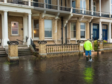 flooded street located in Brighton & Hove