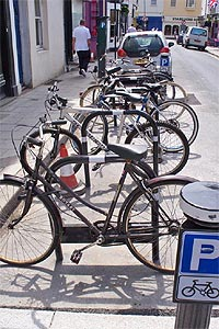 Bikes parked at Pedal Cycle Parking Place