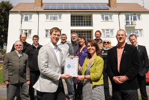 Council leader receives official recognition of One Planet Living City