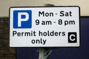 permit holders only sign