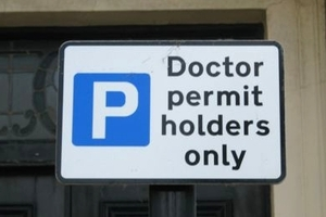 doctor permit holders only parking sign