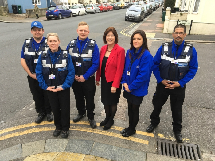 Cllr Gill Mitchell and the environmental enforcement team