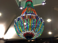 'Shine a light' chandelier in Jubilee Library