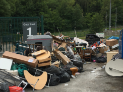 A fly-tip at Withdean Stadium