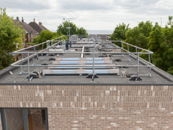 Solar panels on new homes in Buckley Close