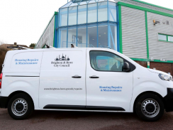 Photo of a Brighton & Hove housing repairs & maintenance service van