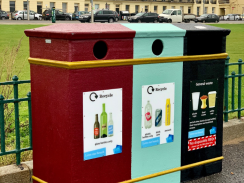 Image of the seafront triple bins