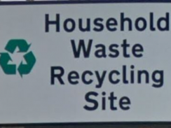 Image of a household waste recycling site sign