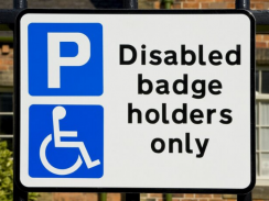 picture showing a disabled badge holders only sign