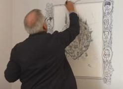 Chris Riddell drawing