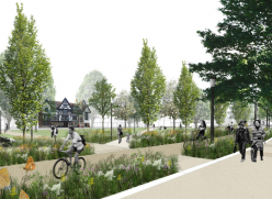 Artistic impression of the transformed Valley Gardens