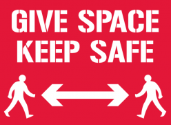 Give Space Keep Safe poster