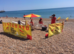 Lifeguards on Brighton & Hove beach