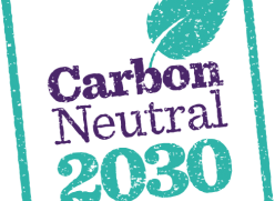 Carbon Neutral 2030 stamp