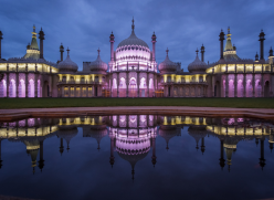 Royal Pavilion lit up at night
