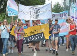 Trans Pride march - photo from Trans Pride Brighton