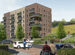 Artist impression of the Homes for Brighton & Hove proposals in Coldean
